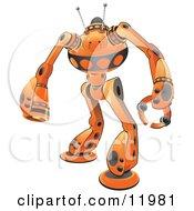 Orange Guardian Robot