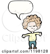 Cartoon Of A Girl Speaking Royalty Free Vector Illustration