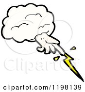 Cartoon Of The Hand Of God And Lightning Royalty Free Vector Illustration by lineartestpilot