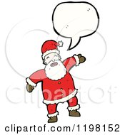 Cartoon Of Santa Claus Speaking Royalty Free Vector Illustration