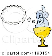 Cartoon Of A Goblet Thinking Royalty Free Vector Illustration by lineartestpilot