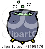 Cartoon Of A Witchs Cauldron Royalty Free Vector Illustration by lineartestpilot