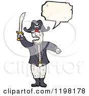 Cartoon Of A Pirate Speaking Royalty Free Vector Illustration