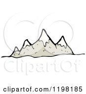 Cartoon Of A Mountain Range Royalty Free Vector Illustration