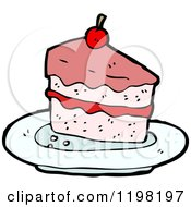 Cartoon Of Sliced Cake Royalty Free Vector Illustration by lineartestpilot