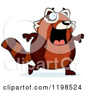 Cartoon Of A Happy Red Panda Walking Royalty Free Vector Clipart by Cory Thoman