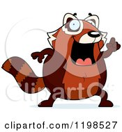 Cartoon Of A Smart Red Panda With An Idea Royalty Free Vector Clipart by Cory Thoman