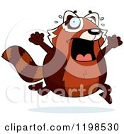 Cartoon Of A Scared Red Panda Running Royalty Free Vector Clipart by Cory Thoman