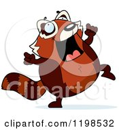 Cartoon Of A Red Panda Doing A Happy Dance Royalty Free Vector Clipart by Cory Thoman
