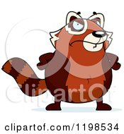 Cartoon Of A Mad Red Panda Royalty Free Vector Clipart by Cory Thoman