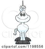 Cartoon Of A Happy Smiling Unicorn Royalty Free Vector Clipart