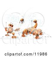 Orange Computer Protection Robots