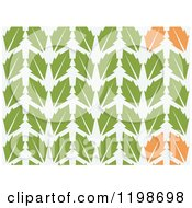 Clipart Of A Seamless Pattern Of Green And Orange Leaves Royalty Free Vector Illustration by Cherie Reve