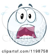 Cartoon Of A Screaming Golf Ball Character Royalty Free Vector Clipart by Hit Toon