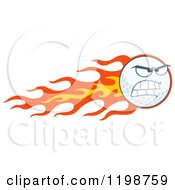 Cartoon Of A Flaming Mad Golf Ball Character Royalty Free Vector Clipart