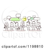 Clipart Of A Group Of Doctor And Surgeon Stick People Networking And Talking Royalty Free Vector Illustration by NL shop