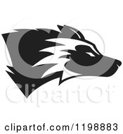 Clipart Of A Black And White Husky Mascot Dog Royalty Free Vector Illustration by Johnny Sajem