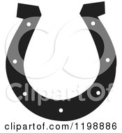 Horse Shoe Clip Art Clipart Of A Black And White