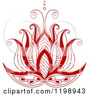 Clipart Of A Red Henna Flower 5 Royalty Free Vector Illustration by Vector Tradition SM