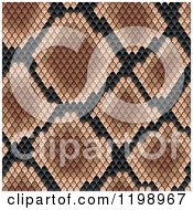 Clipart Of A Seamless Brown And Black Snake Skin Pattern Royalty Free Vector Illustration