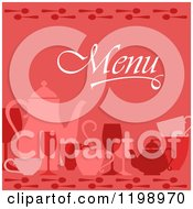 Clipart Of A Red Beverage Menu Cover Royalty Free Vector Illustration