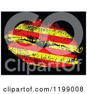 Catalonia Flag Kiss On Black