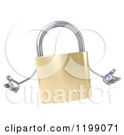Clipart Of A 3d Padlock Mascot Shrugging Royalty Free CGI Illustration by Julos
