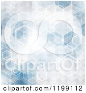 Clipart Of An Abstract Blue Hexagon Background Royalty Free Vector Illustration by KJ Pargeter