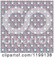 Clipart Of A Retro Background Pattern Royalty Free Vector Illustration