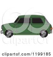 Vintage Green Morris Mini Car