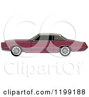 Clipart Of A Vintage Brown Cadillac Royalty Free Vector Illustration