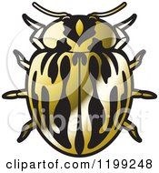 Clipart Of A Golden Myzia Lady Beetle Royalty Free Vector Illustration by Lal Perera