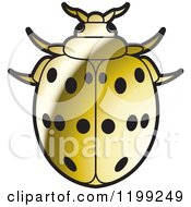 Clipart Of A Golden Maxican Bean Lady Beetle Royalty Free Vector Illustration by Lal Perera