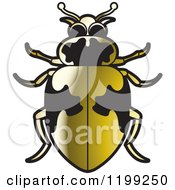 Clipart Of A Golden Hippodamus Lady Beetle Royalty Free Vector Illustration by Lal Perera