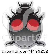 Clipart Of A Black And Red Twice Stabed Lady Beetle Royalty Free Vector Illustration by Lal Perera