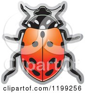 Clipart Of A Red Convergent Lady Beetle Royalty Free Vector Illustration by Lal Perera