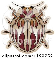 Clipart Of A Brown Myzia Lady Beetle Royalty Free Vector Illustration by Lal Perera