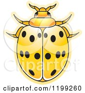 Clipart Of A Yellow Maxican Bean Lady Beetle Royalty Free Vector Illustration by Lal Perera