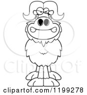 Cartoon Of A Black And White Mad Ox Royalty Free Vector Clipart