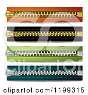 Clipart Of Colorful Horizontal Zippers Royalty Free Vector Illustration by merlinul