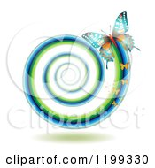 Clipart Of Butterflies Leaving A Spiraling Trail Royalty Free Vector Illustration