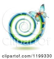 Butterflies Leaving A Spiraling Trail