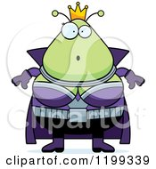 Cartoon Of A Surprised Martian Queen Royalty Free Vector Clipart