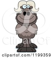 Cartoon Of A Happy Smiling Ox Royalty Free Vector Clipart