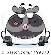 Cartoon Of A Drunk Chubby Tapir Royalty Free Vector Clipart by Cory Thoman