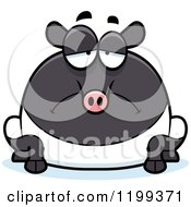 Cartoon Of A Depressed Chubby Tapir Royalty Free Vector Clipart by Cory Thoman