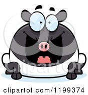 Cartoon Of A Grinning Excited Chubby Tapir Royalty Free Vector Clipart by Cory Thoman
