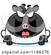 Cartoon Of A Mean Chubby Tapir Royalty Free Vector Clipart by Cory Thoman