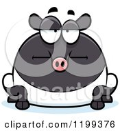 Cartoon Of A Bored Chubby Tapir Royalty Free Vector Clipart by Cory Thoman