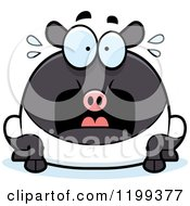 Cartoon Of A Scared Chubby Tapir Royalty Free Vector Clipart by Cory Thoman